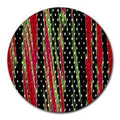 Alien Animal Skin Pattern Round Mousepads