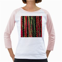 Alien Animal Skin Pattern Girly Raglans