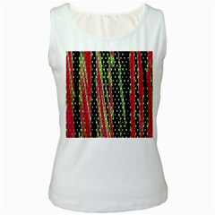 Alien Animal Skin Pattern Women s White Tank Top