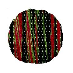 Alien Animal Skin Pattern Standard 15  Premium Round Cushions