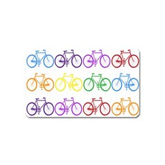 Rainbow Colors Bright Colorful Bicycles Wallpaper Background Magnet (name Card)
