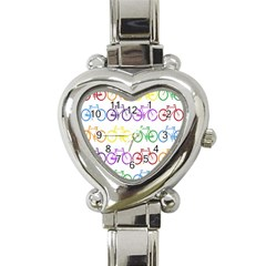 Rainbow Colors Bright Colorful Bicycles Wallpaper Background Heart Italian Charm Watch