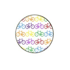 Rainbow Colors Bright Colorful Bicycles Wallpaper Background Hat Clip Ball Marker (4 Pack)