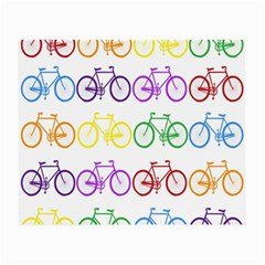 Rainbow Colors Bright Colorful Bicycles Wallpaper Background Small Glasses Cloth