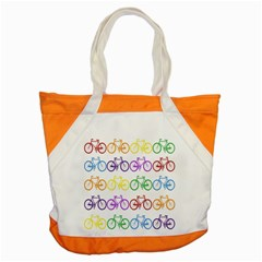 Rainbow Colors Bright Colorful Bicycles Wallpaper Background Accent Tote Bag