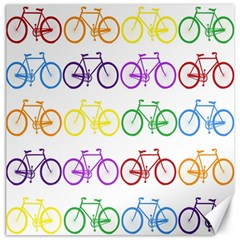 Rainbow Colors Bright Colorful Bicycles Wallpaper Background Canvas 20  x 20