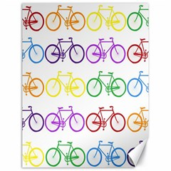 Rainbow Colors Bright Colorful Bicycles Wallpaper Background Canvas 18  x 24