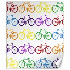 Rainbow Colors Bright Colorful Bicycles Wallpaper Background Canvas 20  x 24