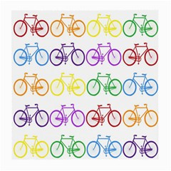 Rainbow Colors Bright Colorful Bicycles Wallpaper Background Medium Glasses Cloth