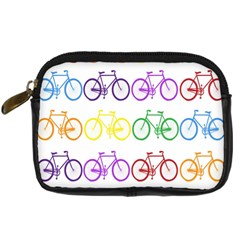 Rainbow Colors Bright Colorful Bicycles Wallpaper Background Digital Camera Cases