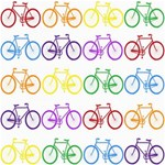 Rainbow Colors Bright Colorful Bicycles Wallpaper Background Storage Stool 12   Front