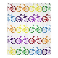 Rainbow Colors Bright Colorful Bicycles Wallpaper Background Shower Curtain 60  X 72  (medium)