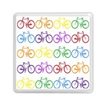 Rainbow Colors Bright Colorful Bicycles Wallpaper Background Memory Card Reader (Square)  Front