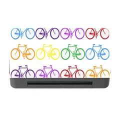 Rainbow Colors Bright Colorful Bicycles Wallpaper Background Memory Card Reader with CF