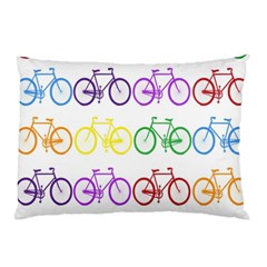 Rainbow Colors Bright Colorful Bicycles Wallpaper Background Pillow Case (two Sides)