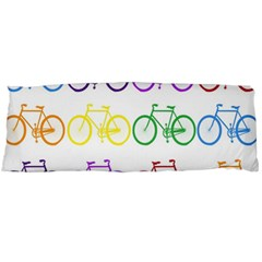 Rainbow Colors Bright Colorful Bicycles Wallpaper Background Body Pillow Case (Dakimakura)