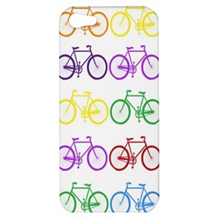 Rainbow Colors Bright Colorful Bicycles Wallpaper Background Apple iPhone 5 Hardshell Case
