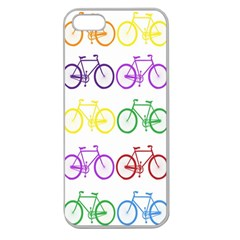 Rainbow Colors Bright Colorful Bicycles Wallpaper Background Apple Seamless iPhone 5 Case (Clear)