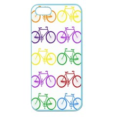 Rainbow Colors Bright Colorful Bicycles Wallpaper Background Apple Seamless iPhone 5 Case (Color)