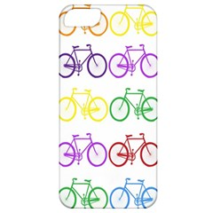 Rainbow Colors Bright Colorful Bicycles Wallpaper Background Apple iPhone 5 Classic Hardshell Case