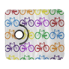 Rainbow Colors Bright Colorful Bicycles Wallpaper Background Galaxy S3 (Flip/Folio)