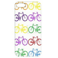 Rainbow Colors Bright Colorful Bicycles Wallpaper Background Apple iPhone 5 Hardshell Case with Stand