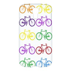Rainbow Colors Bright Colorful Bicycles Wallpaper Background Samsung Galaxy S4 I9500/I9505 Hardshell Case