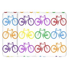 Rainbow Colors Bright Colorful Bicycles Wallpaper Background Samsung Galaxy Tab 8.9  P7300 Flip Case