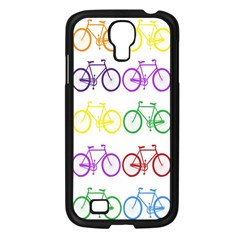 Rainbow Colors Bright Colorful Bicycles Wallpaper Background Samsung Galaxy S4 I9500/ I9505 Case (black)