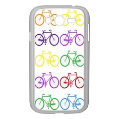 Rainbow Colors Bright Colorful Bicycles Wallpaper Background Samsung Galaxy Grand DUOS I9082 Case (White)