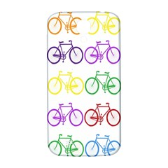 Rainbow Colors Bright Colorful Bicycles Wallpaper Background Samsung Galaxy S4 I9500/I9505  Hardshell Back Case
