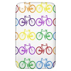 Rainbow Colors Bright Colorful Bicycles Wallpaper Background Samsung Galaxy Tab 3 (8 ) T3100 Hardshell Case