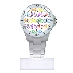 Rainbow Colors Bright Colorful Bicycles Wallpaper Background Plastic Nurses Watch