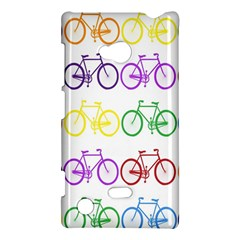 Rainbow Colors Bright Colorful Bicycles Wallpaper Background Nokia Lumia 720