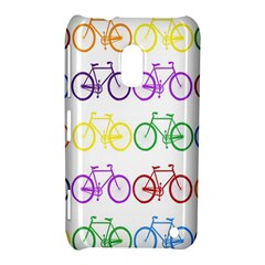 Rainbow Colors Bright Colorful Bicycles Wallpaper Background Nokia Lumia 620
