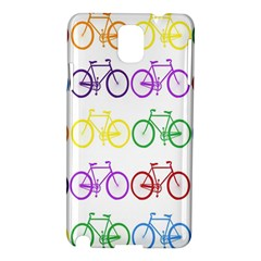 Rainbow Colors Bright Colorful Bicycles Wallpaper Background Samsung Galaxy Note 3 N9005 Hardshell Case