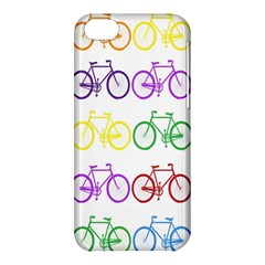 Rainbow Colors Bright Colorful Bicycles Wallpaper Background Apple iPhone 5C Hardshell Case