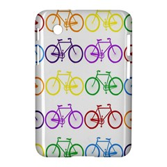 Rainbow Colors Bright Colorful Bicycles Wallpaper Background Samsung Galaxy Tab 2 (7 ) P3100 Hardshell Case