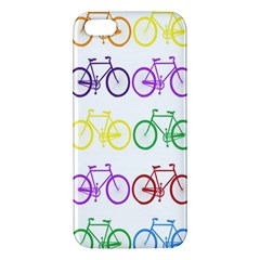 Rainbow Colors Bright Colorful Bicycles Wallpaper Background iPhone 5S/ SE Premium Hardshell Case