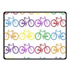 Rainbow Colors Bright Colorful Bicycles Wallpaper Background Double Sided Fleece Blanket (Small)