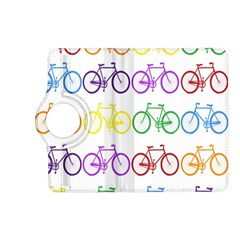 Rainbow Colors Bright Colorful Bicycles Wallpaper Background Kindle Fire HD (2013) Flip 360 Case