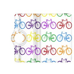 Rainbow Colors Bright Colorful Bicycles Wallpaper Background Kindle Fire HDX 8.9  Flip 360 Case