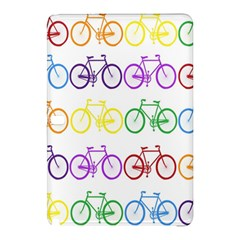 Rainbow Colors Bright Colorful Bicycles Wallpaper Background Samsung Galaxy Tab Pro 12.2 Hardshell Case