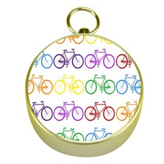 Rainbow Colors Bright Colorful Bicycles Wallpaper Background Gold Compasses