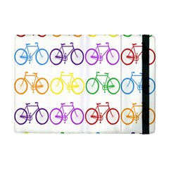 Rainbow Colors Bright Colorful Bicycles Wallpaper Background iPad Mini 2 Flip Cases