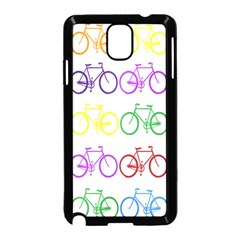Rainbow Colors Bright Colorful Bicycles Wallpaper Background Samsung Galaxy Note 3 Neo Hardshell Case (Black)