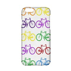 Rainbow Colors Bright Colorful Bicycles Wallpaper Background Apple iPhone 6/6S Hardshell Case
