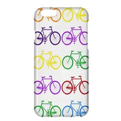 Rainbow Colors Bright Colorful Bicycles Wallpaper Background Apple iPhone 6 Plus/6S Plus Hardshell Case