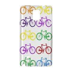 Rainbow Colors Bright Colorful Bicycles Wallpaper Background Samsung Galaxy Note 4 Hardshell Case