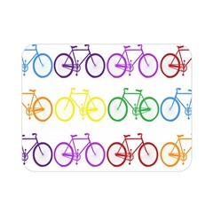 Rainbow Colors Bright Colorful Bicycles Wallpaper Background Double Sided Flano Blanket (mini)